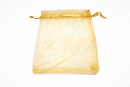 Saco Organza 18x13cm Dourado