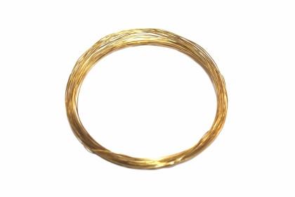 Arame de Aço 0,25mm Dourado