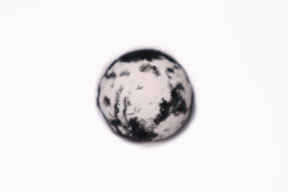 Craquelada 24mm Mesclada Branco c/ Preto