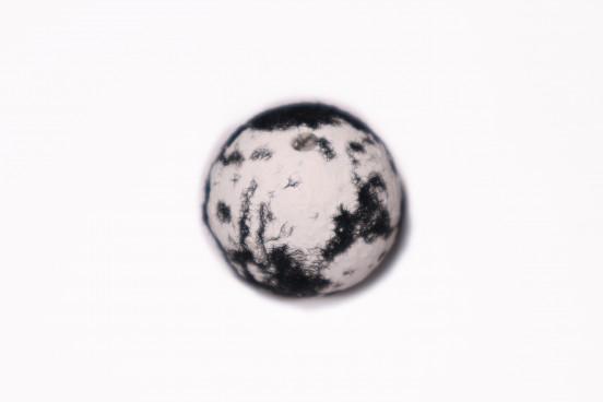 Craquelada Mesclada 24mm Branco c/ Preto