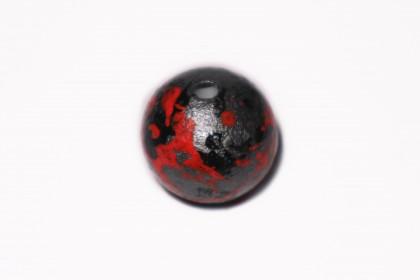 Craquelada 24mm Mesclada Vermelho, Cinza e Preto