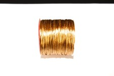 Cordão de Seda 1mm Dourado