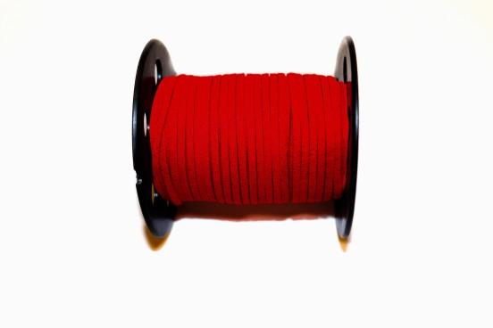 Camurça Sintética 3mm Vermelho