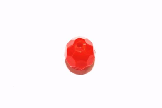 Resina 16mm Facetada Vermelho