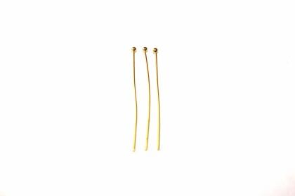 Alfinete 30mm Aço Dourado