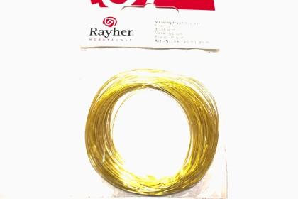 Arame de Latão 0,30mm Banho Dourado