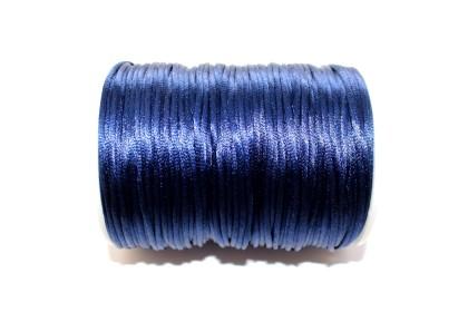 Cordão de Seda 2mm Azul Escuro