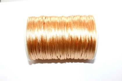 Cordão de Seda 2mm Bege
