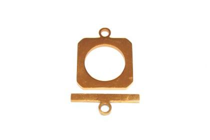 Fecho T 20mm Aço Dourado