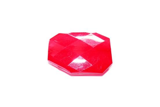 Resina Facetada Vermelho 39mm
