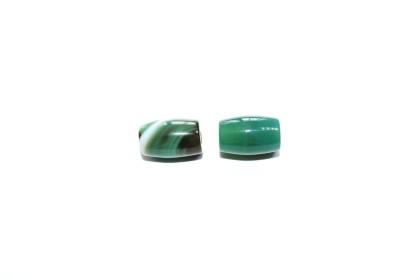 Ágata Tubo 12mm Verde
