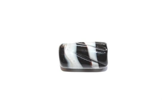 Murano Tubo 24mm Preto c/ Branco