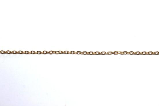 Corrente Aço Dourado Elo 2X1mm
