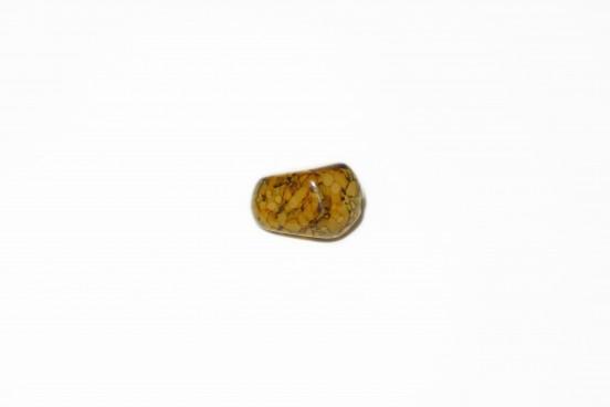 Resina Mesclada Verde c/ Castanho 17x10mm