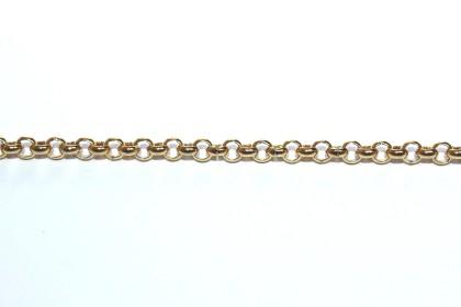 Corrente Aço Dourado Elo 4 x 4mm
