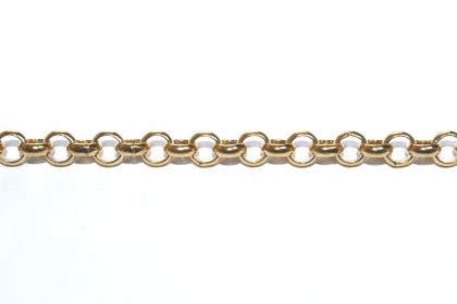 Corrente Aço Dourado Elo 6 x 6mm