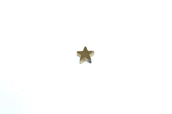 Hematita Estrela Banho Dourado