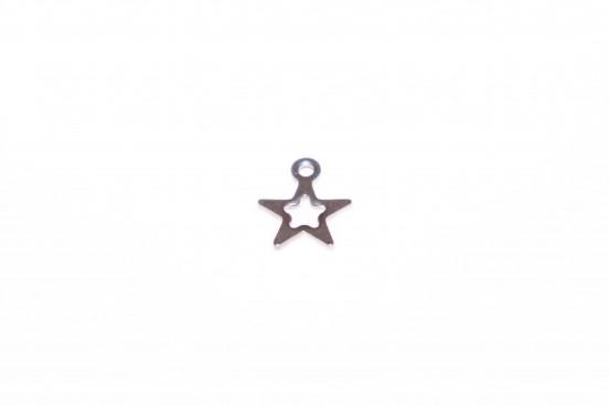 Berloque Estrela Aço Prateado