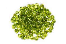 Missanga Verde Miolo Prata