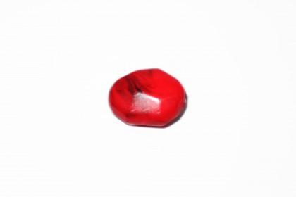 Resina Facetada Vermelho c/Preto 24mm