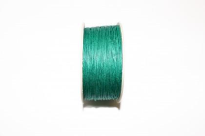 Cordão Encerado 1mm Azul Turquesa
