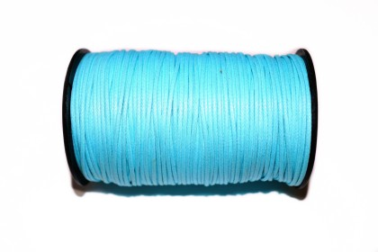 Cordão Encerado 1,5mm Azul Claro