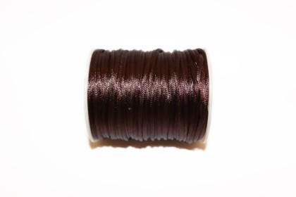 Cordão de Seda 2mm Castanho