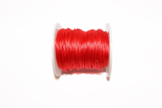 Cordão de Seda 2mm Vermelho