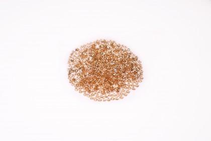 Missanguinha Especial Cristal Miolo Dourado