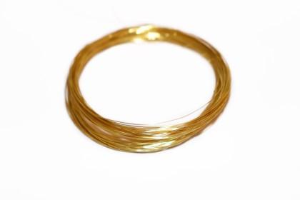 Arame Cobre 0,30mm Dourado