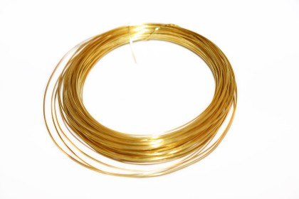 Arame de Cobre 0,60mm Dourado