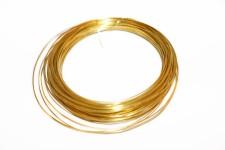 Arame de Latão 0,60mm Banho Dourado
