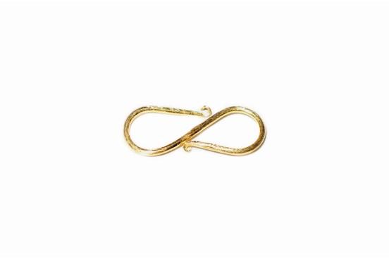Fecho S 25mm Prata Lei Dourada