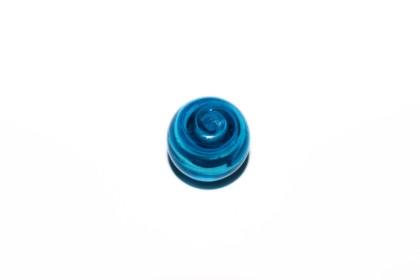 Murano Bola 19mm Azul Piscina c/ Turquesa